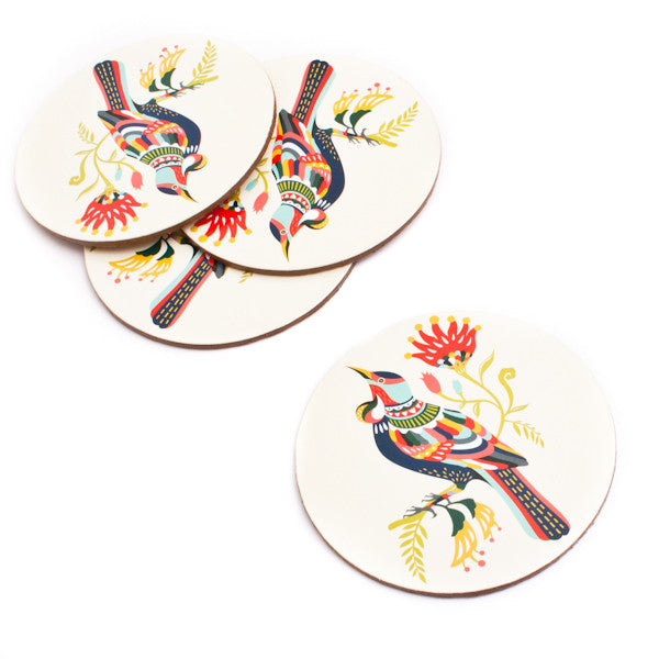 Tofutree Coaster Set Colourful Tui