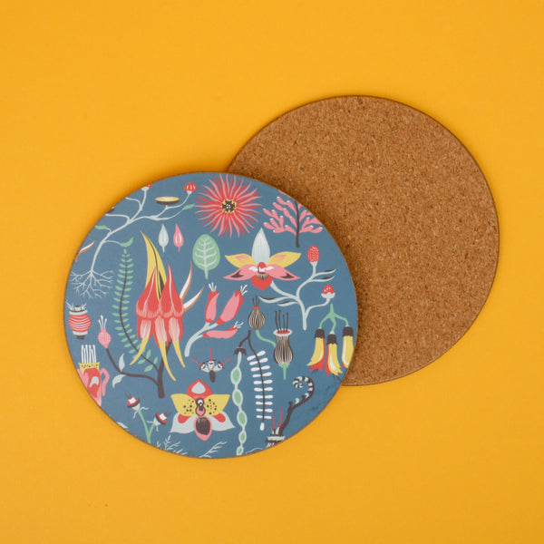 Tofutree Coaster Set of 4 Secret Garden