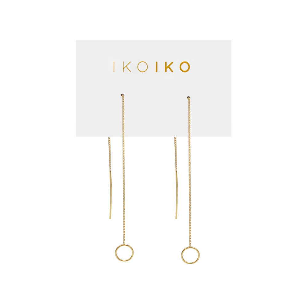 Iko Iko Earrings Thread with Circle