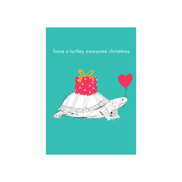 Iko Iko Christmas Card Turtle