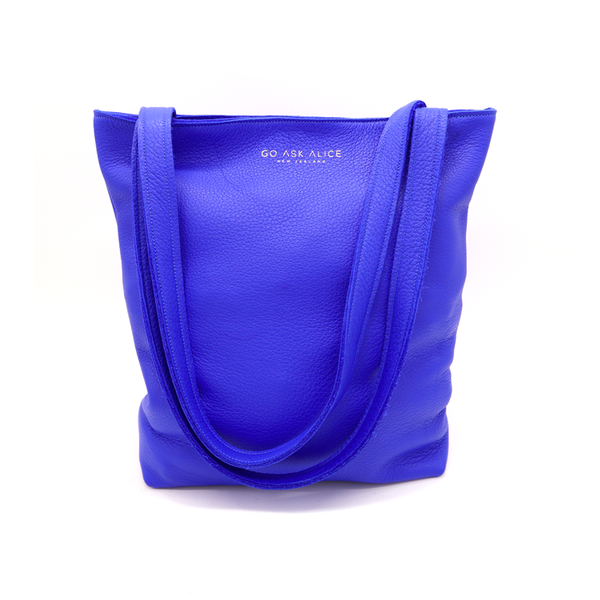 Go Ask Alice Ingrid Tote Bag  Electric Blue