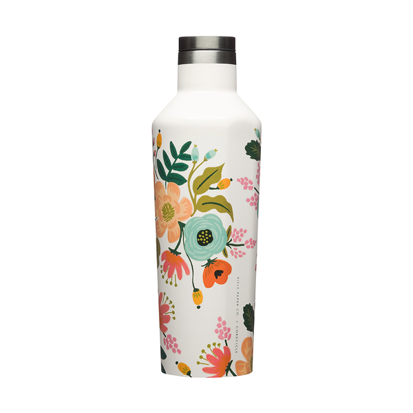 Corkcicle x Rifle Paper Co. Canteen Drink Bottle 16oz 475ml Cream Lively Floral