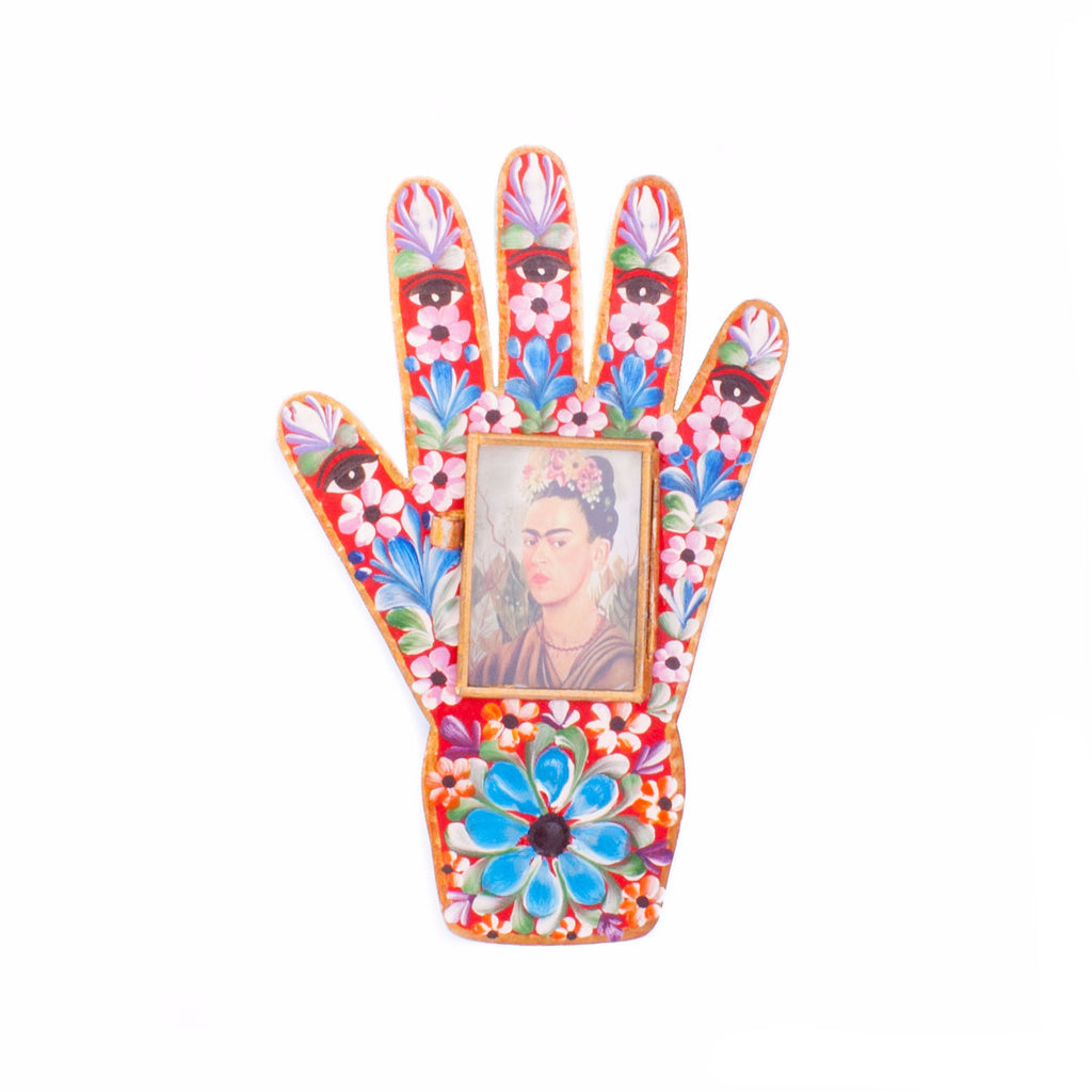 Mexican Tin Hand with Frida