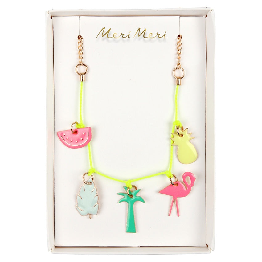Meri Meri Necklace Enamel Charm Tropical