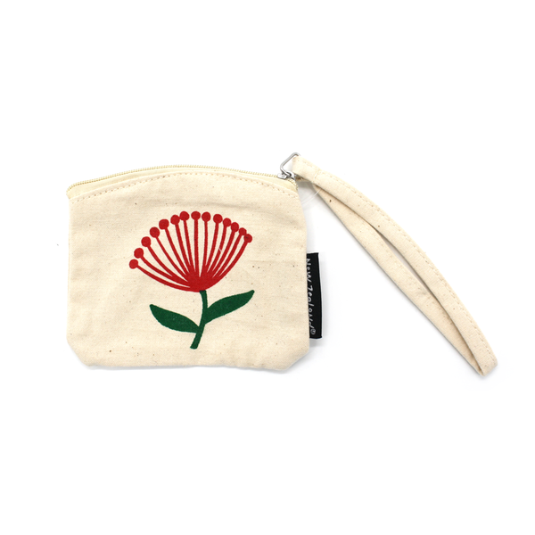 New Zealand Coin Purse Pohutukawa
