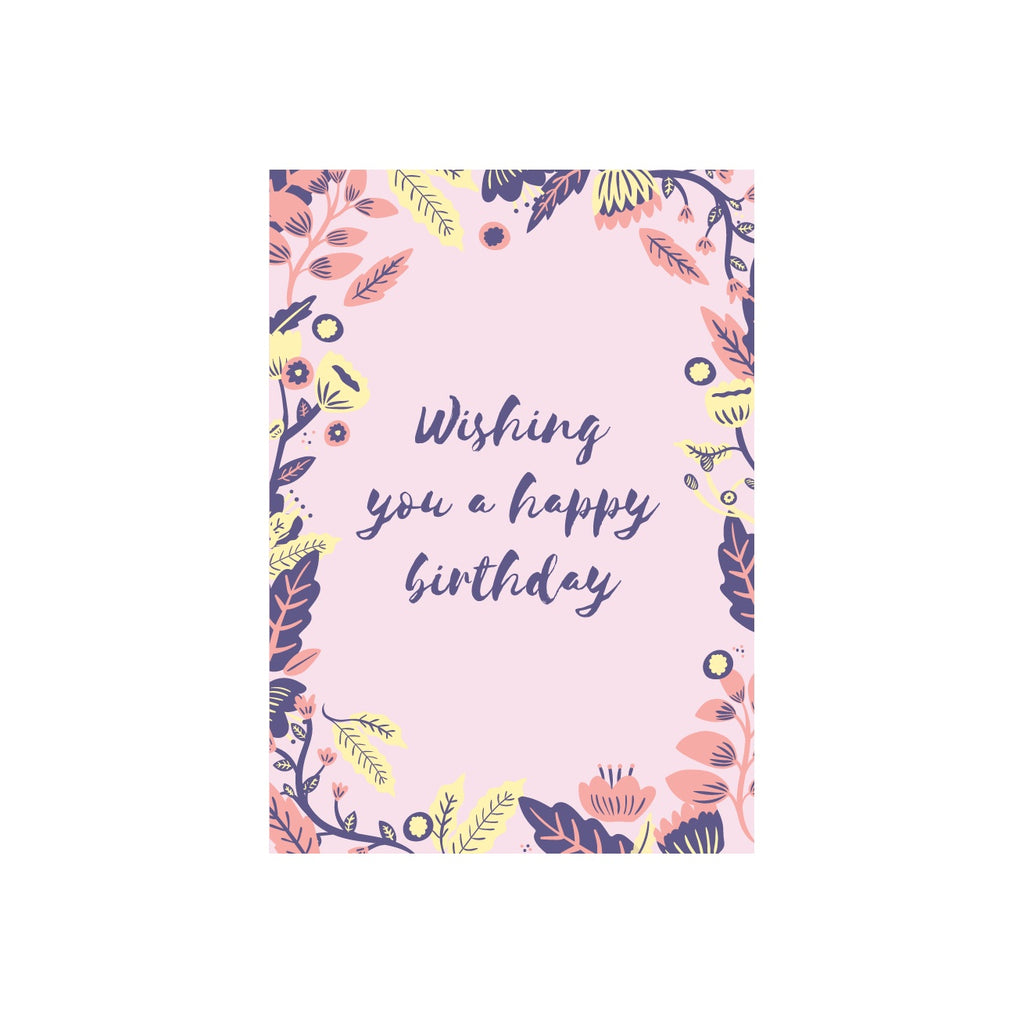 Iko Iko Floral Message Card Wishing You