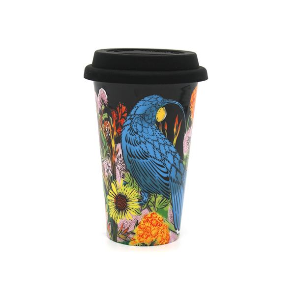 Flox Huia and Flowers Ceramic Travel Mug
