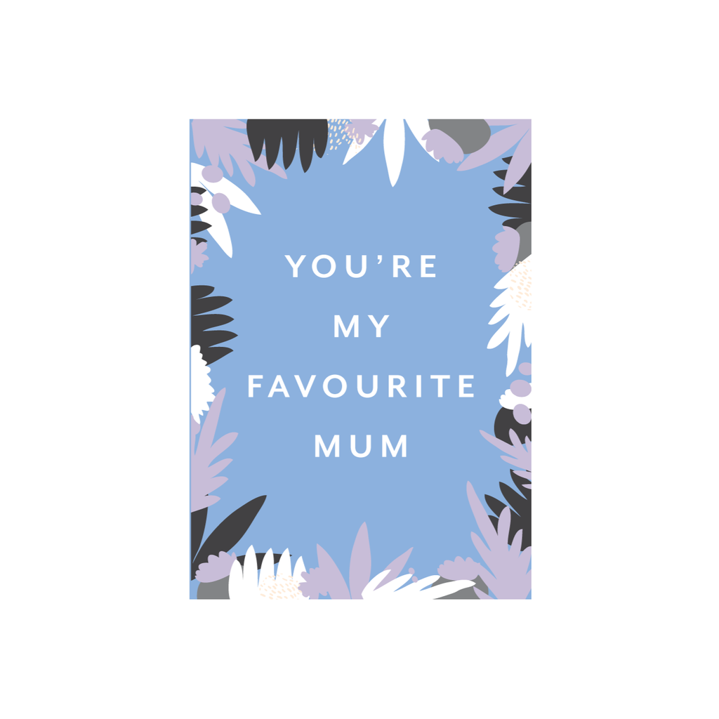 Iko Iko Patterned Card Favourite Mum