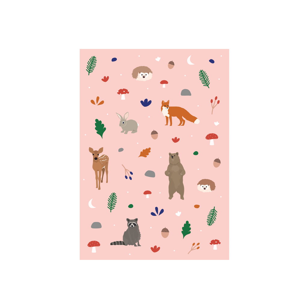 Iko Iko Animal Pattern Card Woodland