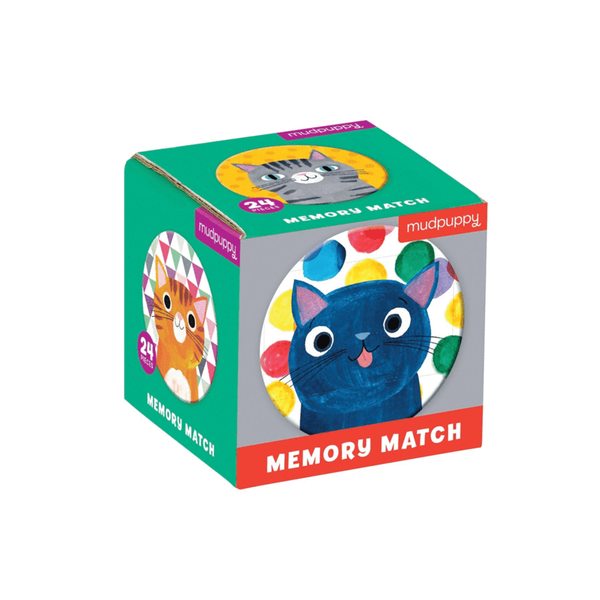 Mudpuppy Mini Memory Match Game Cats