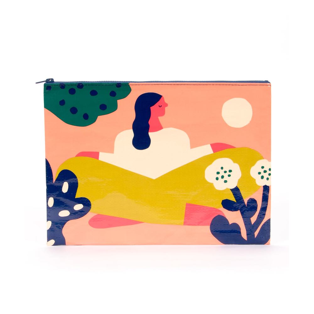 Blue Q Jumbo Zipper Pouch Soak Up The Sun