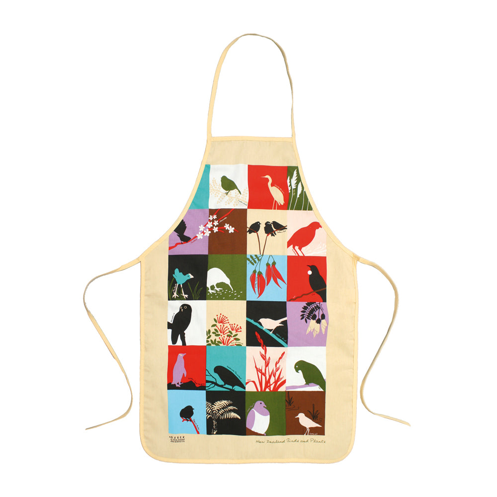 NZ Birds and Plants Apron