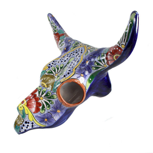 Mexican Talavera Bull Head