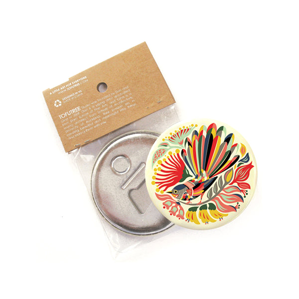 Tofutree Magnetic Bottle Opener Colourful Fantail