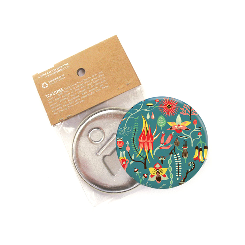 Tofutree Magnetic Bottle Opener Secret Garden