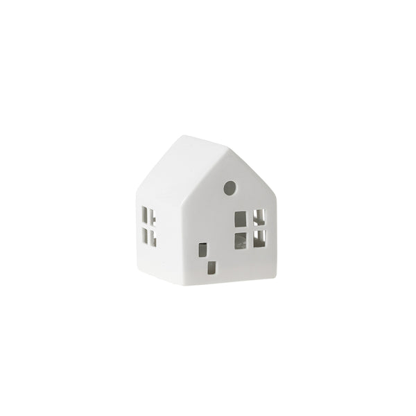 Citta Glazed Porcelain House LED Light White Small