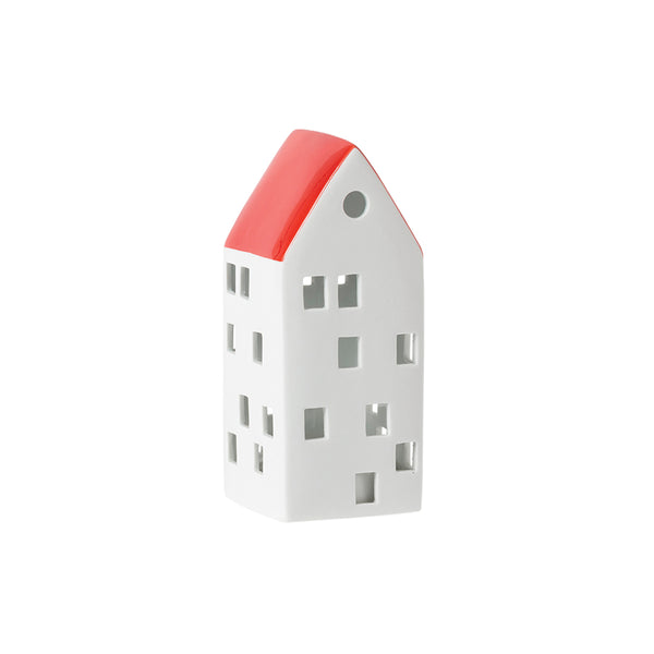 Citta Glazed Porcelain House LED Light Carmine Medium