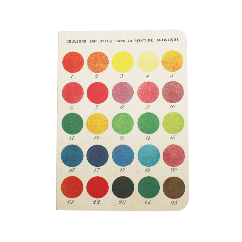 Cavallini Note Mini Notebook Colour Wheel Blank