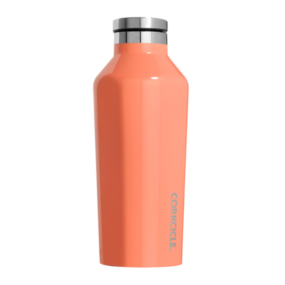 Corkcicle Canteen Drink Bottle 9oz Peach Echo
