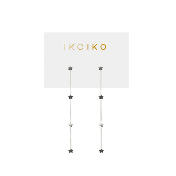 Iko Iko Studs Chains with Four Stars
