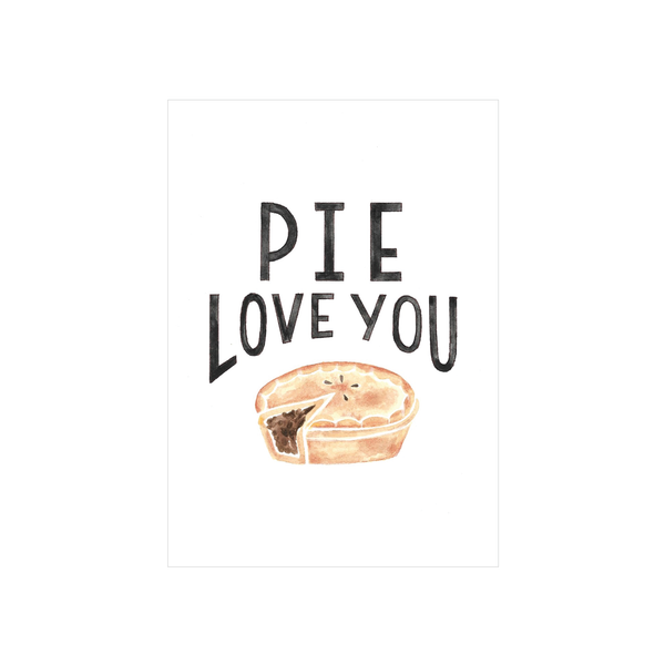 Steer Illustrations X Iko Iko Card Pie Love You