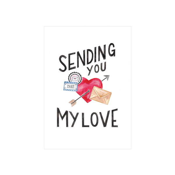 Steer Illustrations X Iko Iko Card Sending You My Love