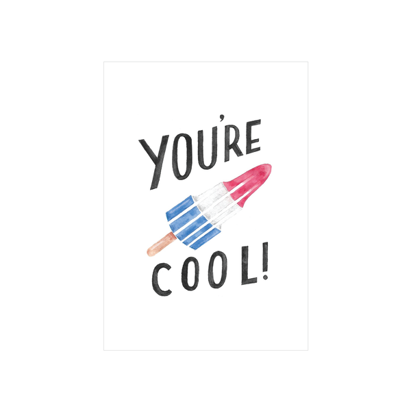 Steer Illustrations X Iko Iko Card You're Cool Ice Block
