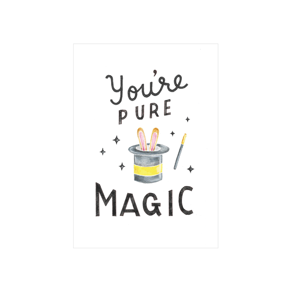 Steer Illustrations X Iko Iko Card You're Pure Magic