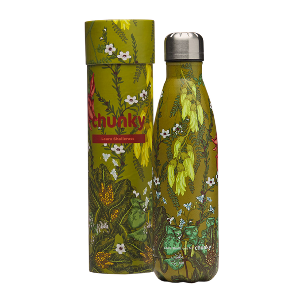 Chunky Bottle Laura Shallcrass Floral Aotearoa 500ml