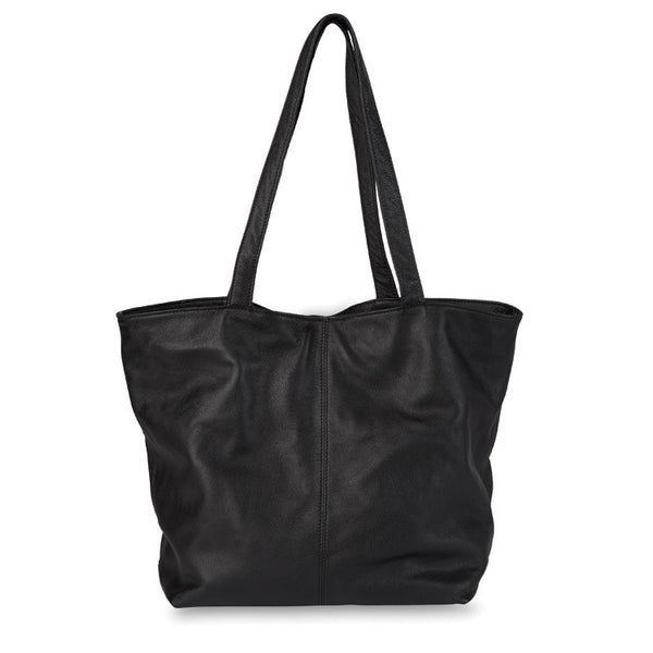 Citta Bella Leather Tote Black