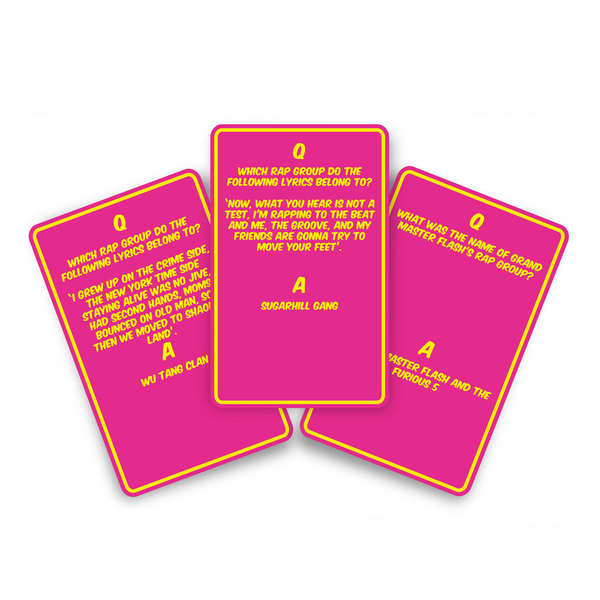 Hip Hop Trivia Card Game