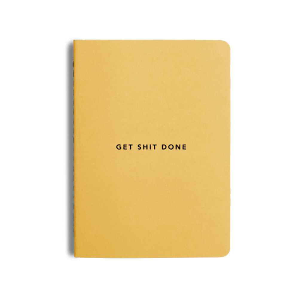 Mi Goals Get Shit Done Notebook Minimal A6