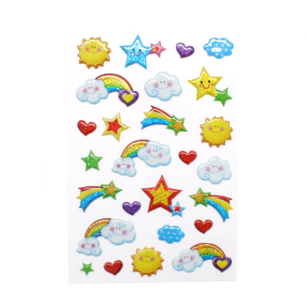 Rainbows Clouds Stars Puff Stickers