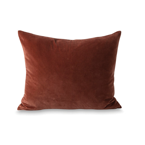 Citta Cotton Velvet Cushion Cover Russet