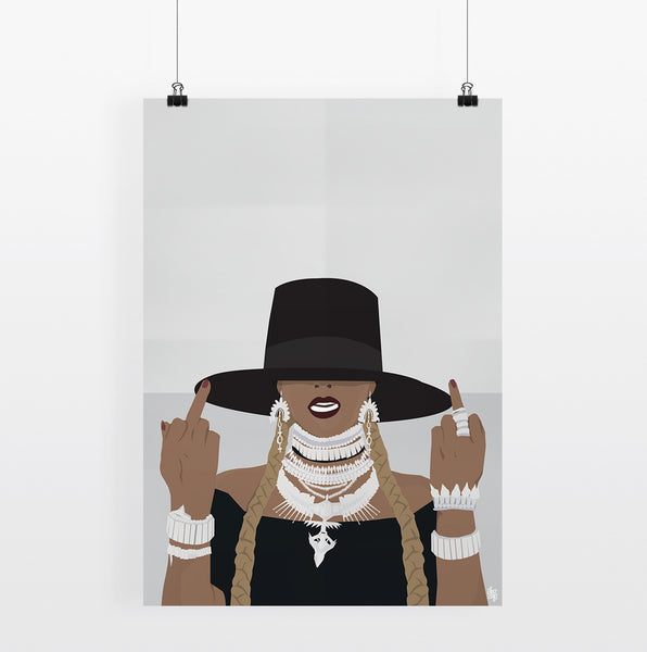 Iko Iko Pop Culture Poster Bey Fingers