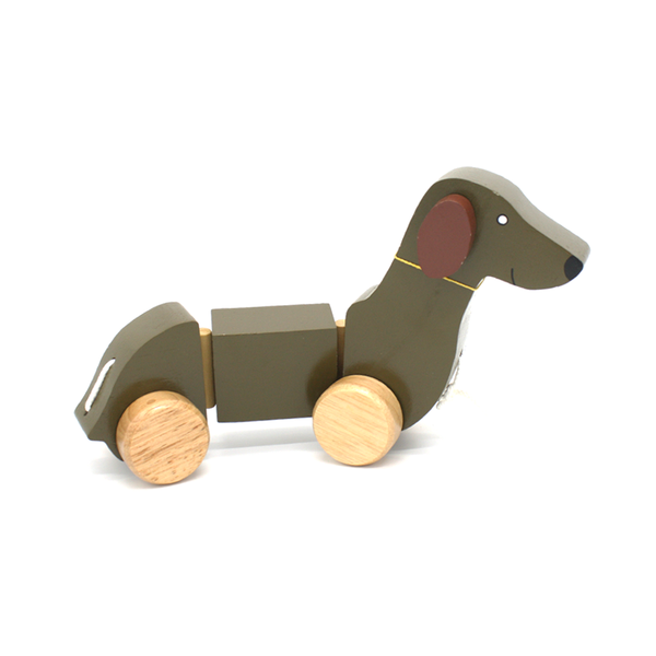 Wooden Dachshund Pull Toy