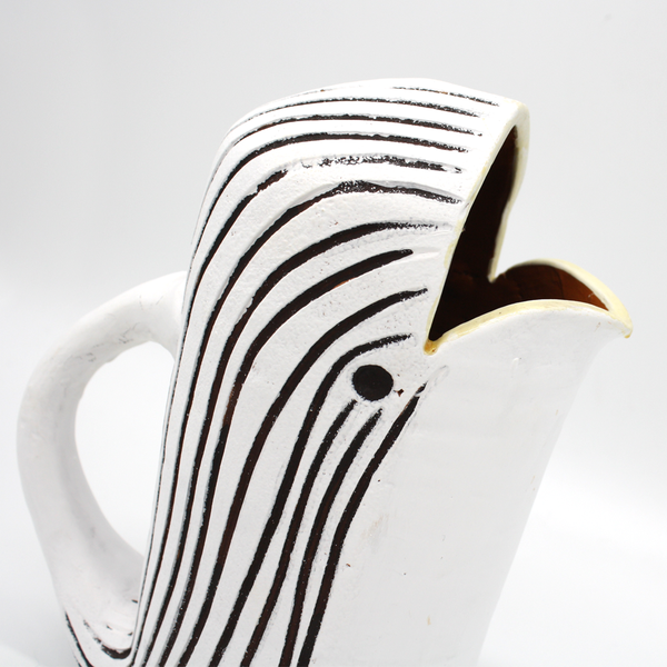 Black and White Whale Jug