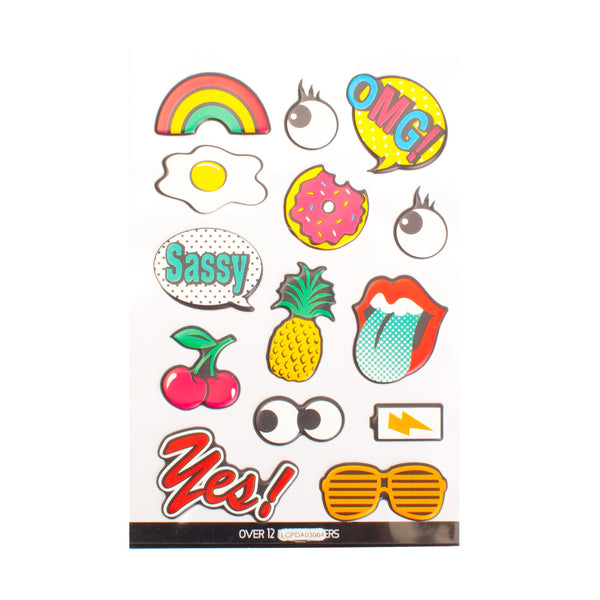 Fun and Food Puff Stickers