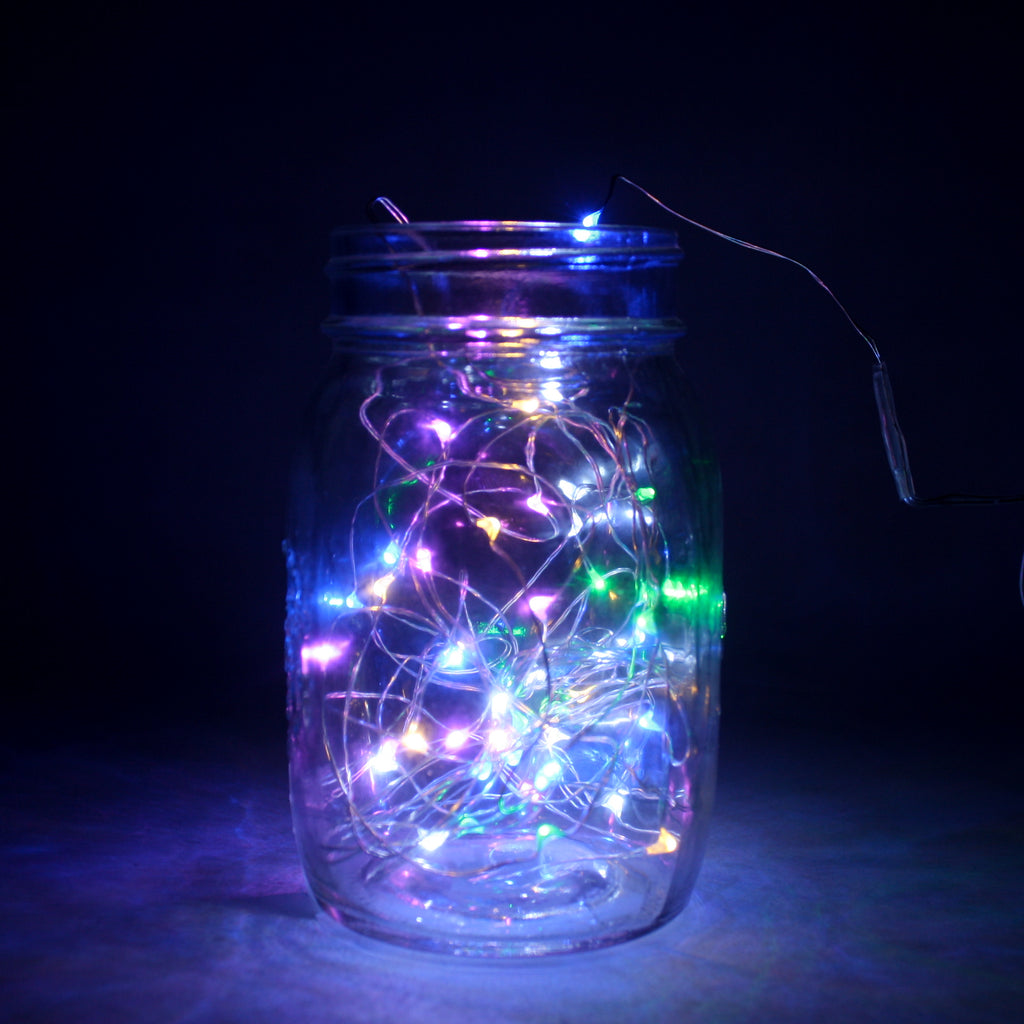 LED Wire Seed Light String Rainbow 2m