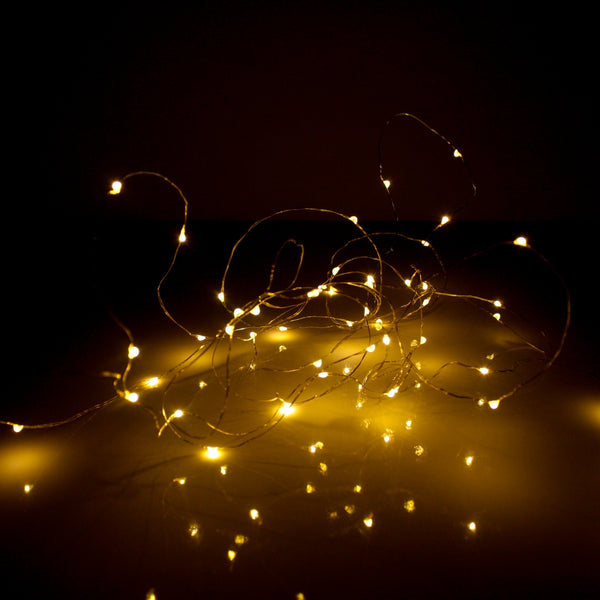 Charge and Go LED Multi Function String Lights 3m Silver