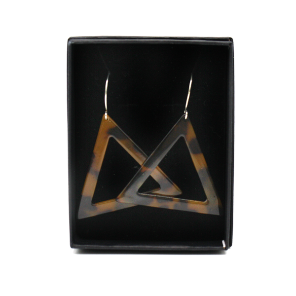 Penny Foggo Earrings Big Open Tortoiseshell Triangle