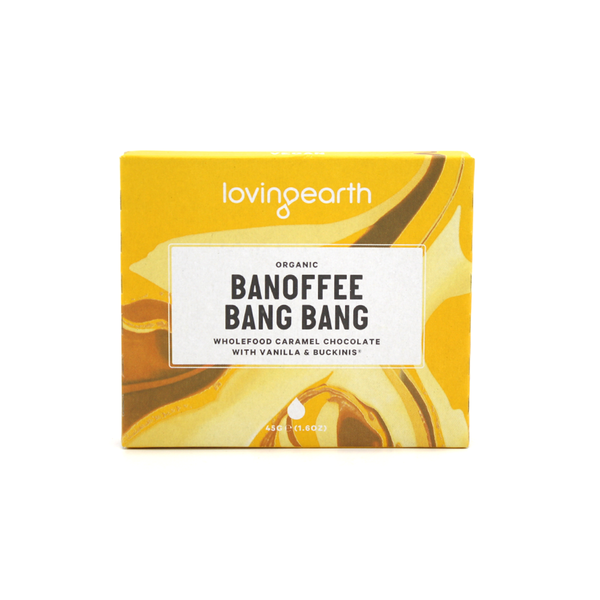 Loving Earth Organic & Vegan Chocolate 45g Banoffee Bang Bang