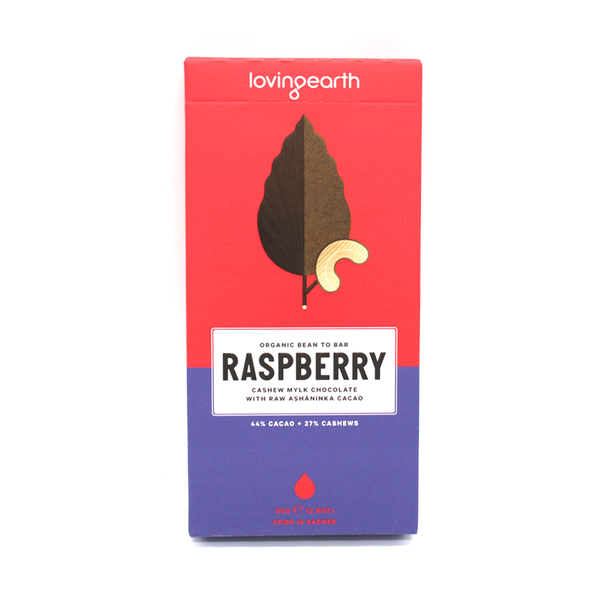Loving Earth Raw & Organic Chocolate 80g Raspberry