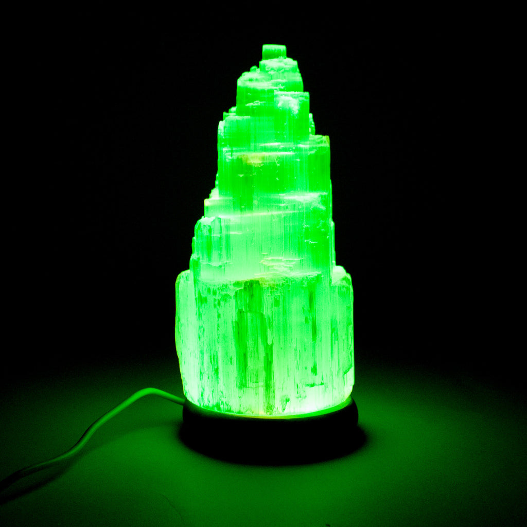 Selenite Mineral Crystal Usb Lamp Medium