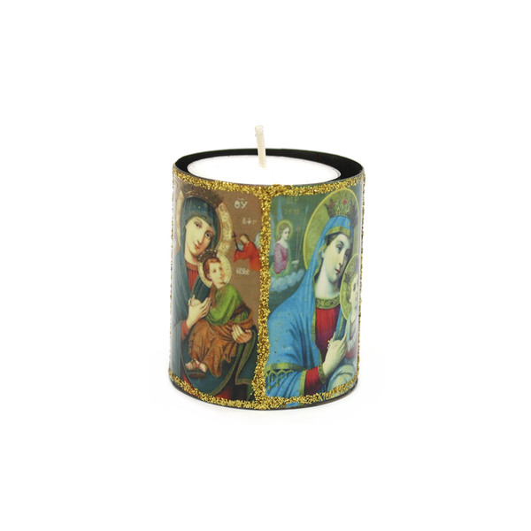 Mexican Candle in Tin Holder Saint