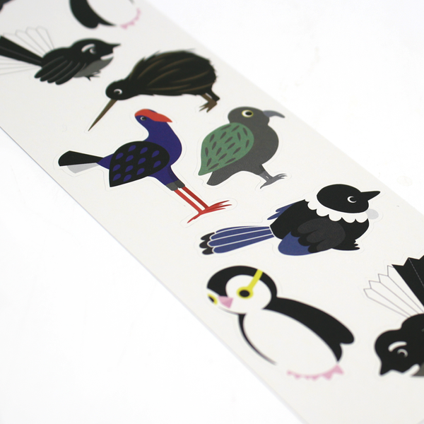 New Zealand Native Bird Stickers Characters