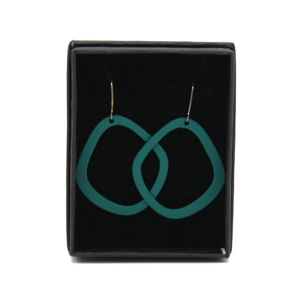 Penny Foggo Earrings Oval Hoops Teal