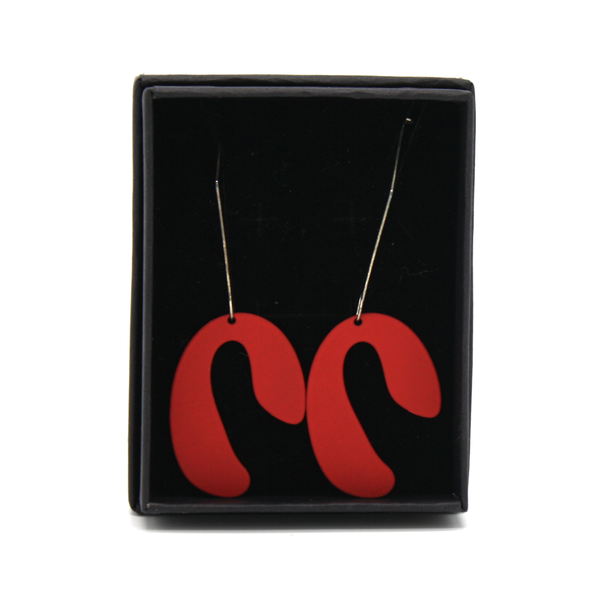 Penny Foggo Earrings U Drops Red