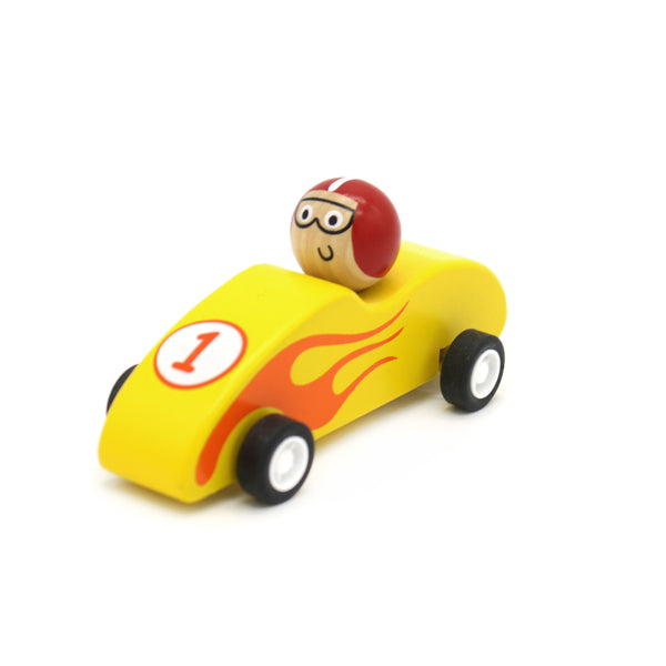 Wooden Pull Back Racer Assorted