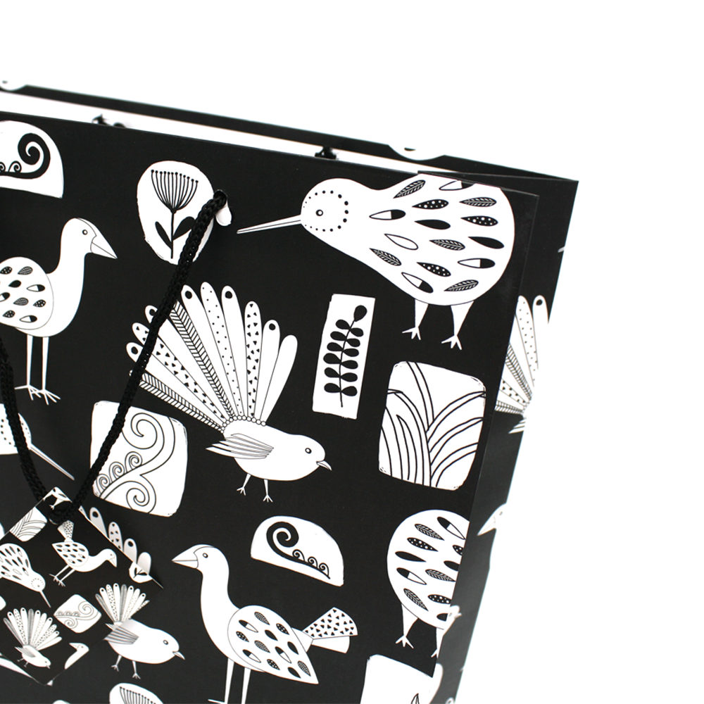 New Zealand Black and White Bird Gift Bag Large